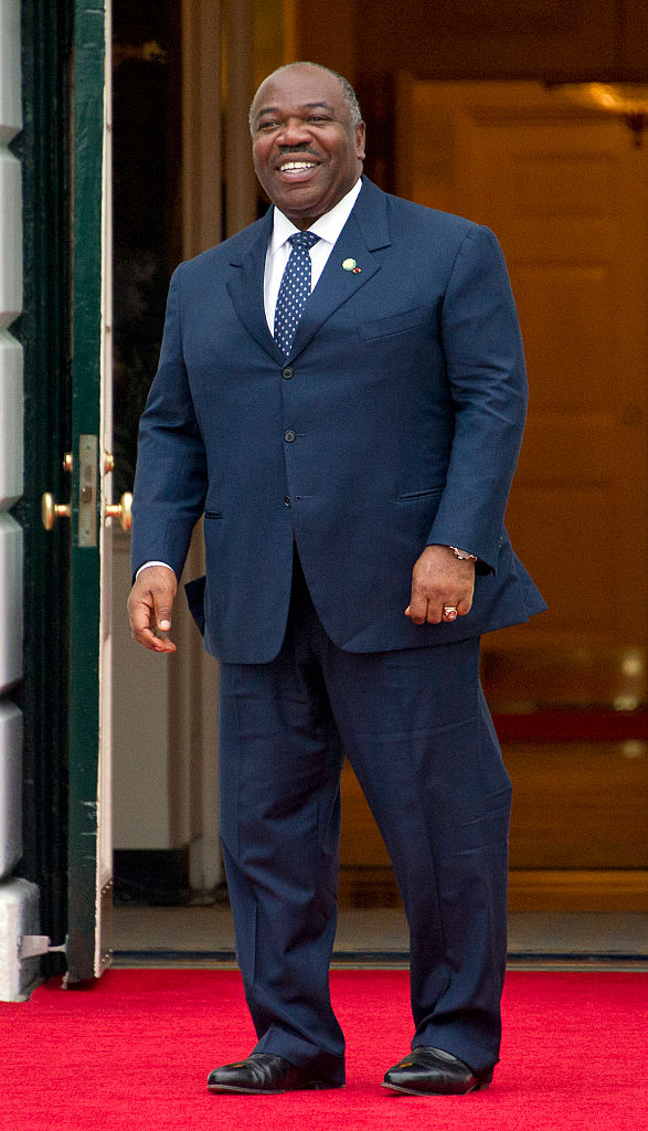 WASHINGTON, DC - MARCH 31: President of Gabonese Republic Ali Bongo Ondimba arrives for the working dinner for the heads of delegations at the Nuclear Security Summit on the South Lawn of the White House March 31, 2016 in Washington, D.C.. (Photo by Ron Sachs-Pool/Getty Images)