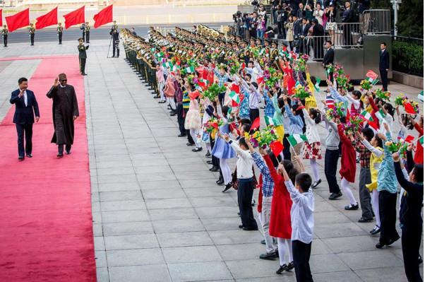 Buhari's Offical Welcoming in China. April 12th. Photo Credit: instagram.com/bayoomoboriowo
