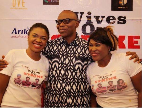 Omoni Oboli, Olusegun Mimiko and Uche Jombo
