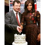 Omotola with British High Commissioner to Nigeria - Paul Arkwright