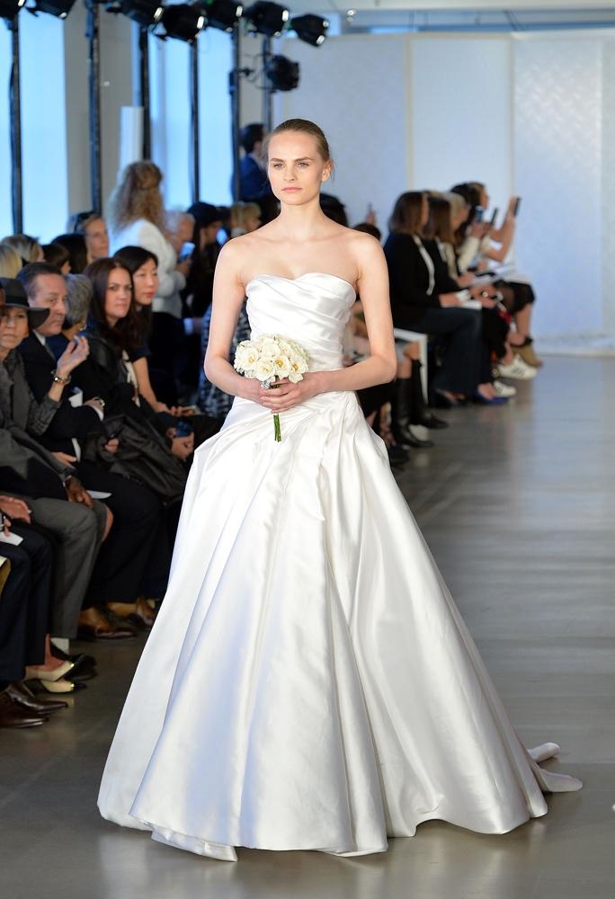 NEW YORK, NY - APRIL 15: Model walks the runway at Oscar De La Renta Bridal Spring/Summer 2017 Runway Show at Oscar de la Renta Boutique on April 15, 2016 in New York City. (Photo by Slaven Vlasic/Getty Images)