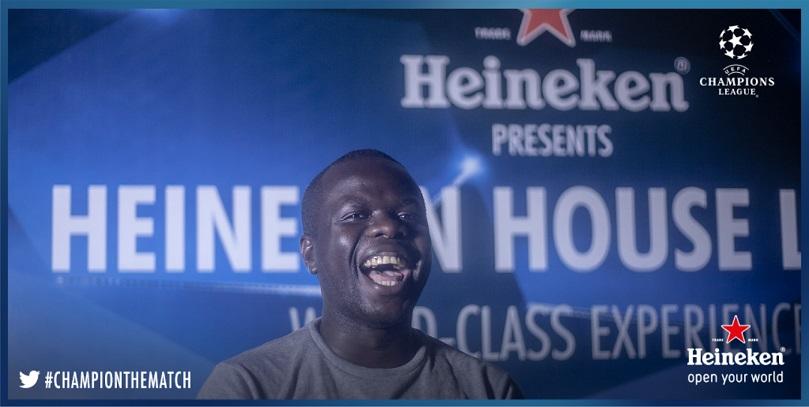 Osi Suave at #HeinekenHouseLagos