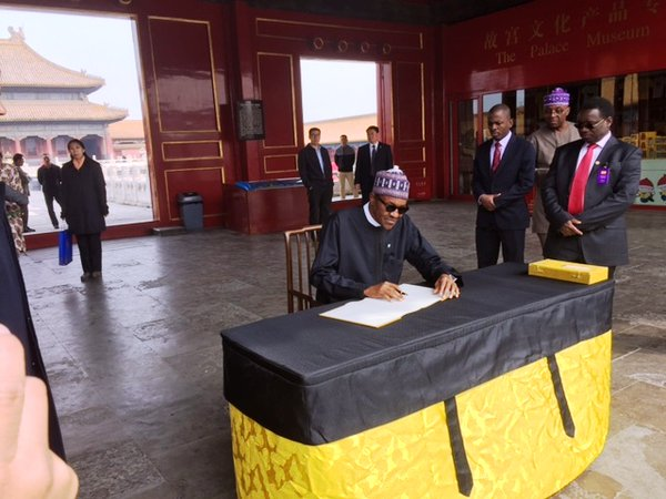PMB signs the Special Visitors' Book At the Forbidden City - former Chinese Imperial Palace
