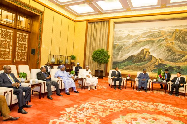 President Buhari met with Zhang Dejiang, Chairman Standing Committee of the National People's Congress of China