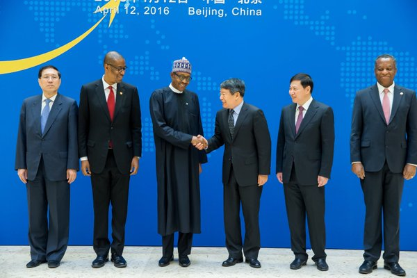 PMB and Xu Shaoshi, Chair of National Reform & Development Comm, at Opening Ceremony of China-Nigeria Business Forum