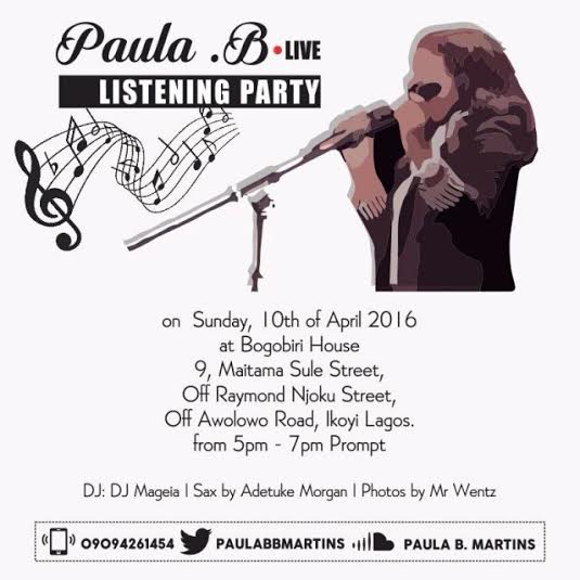 Paula B Listening Party