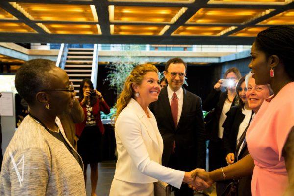Sandra Pepera, Global Director, Gender Women and Democracy_ Sophie Grégoire Trudeau, Canadian First Lady & Stephanie Linus