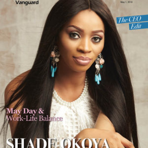 """Shade Okoya covers the CEO Edit Issue of Vanguard Allure 