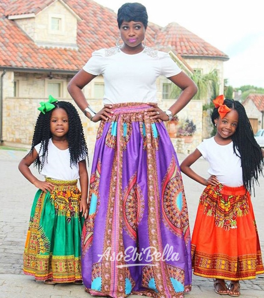 Skirts gifted by @afrikcouture