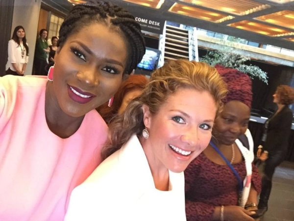 Stephanie Linus, Celebrity Ambassador for NDI's Stop VAWIE campaign in Nigeria & Sophie Grégoire Trudeau, Canadian First Lady