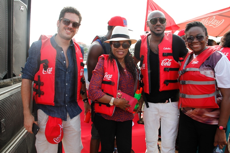 2Baba with members of the Coca-Cola Team