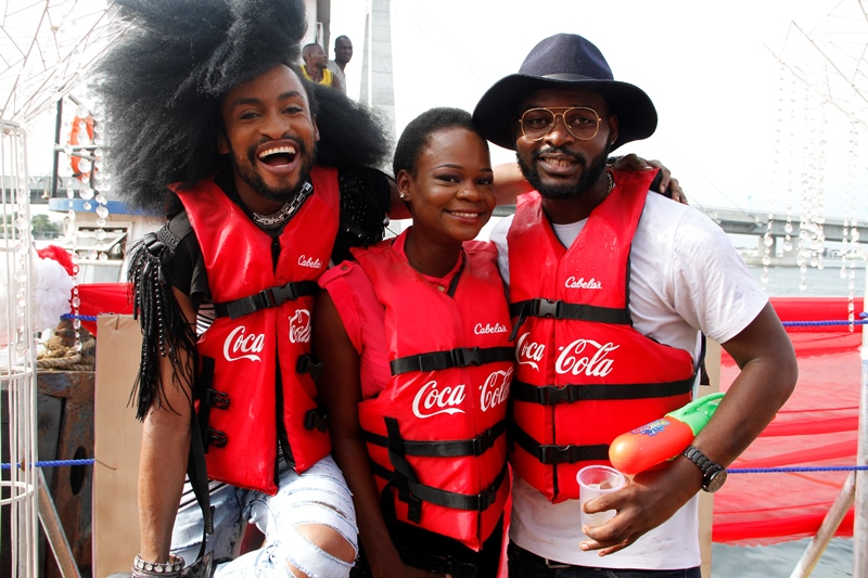 Denrele, Olajumoke and Falz the Bahd Guy