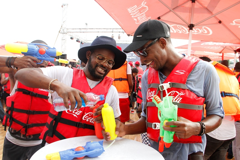 Falz and A VIP at Coke Island