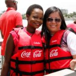 Olajumoke and Marketing Director, Coca-Cola Nigeria, Patricia Jemibewon