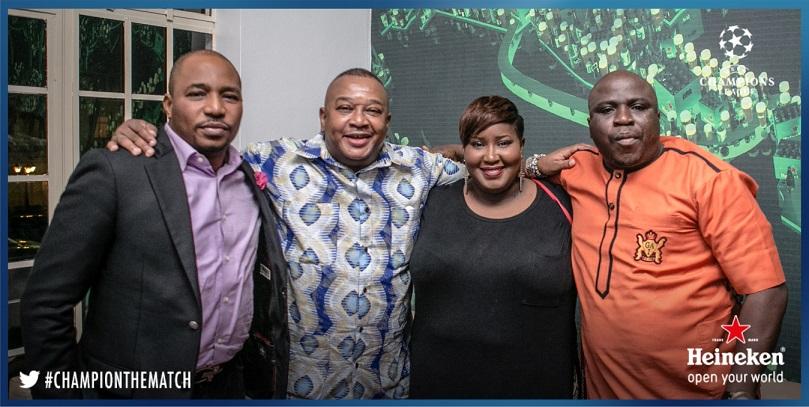 Tee A, Olisa Adibua, Dami Elebe and Gbenga Adeyinka at Heineken House Lagos