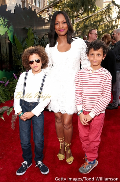 Garcelle Beauvais (center) and sons Jax Joseph Nilon (L) and Jaid Thomas Nilon (R)