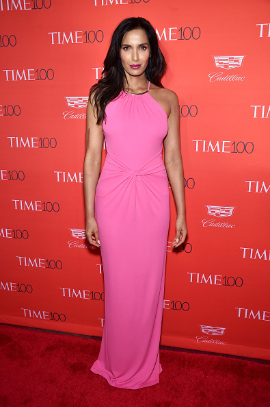 NEW YORK, NY - APRIL 26: Padma Lakshmi attends 2016 Time 100 Gala, Time's Most Influential People In The World red carpet at Jazz At Lincoln Center at the Times Warner Center on April 26, 2016 in New York City. (Photo by Dimitrios Kambouris/Getty Images for Time)