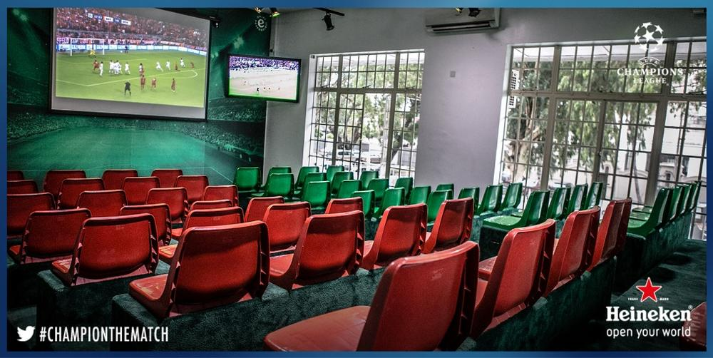 Upstairs Viewing Area with Stadium Seats