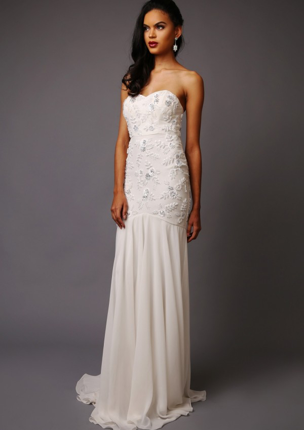 Elizabeth Wedding Dress - Bandeau style wedding dress with Trumpet style skirt
