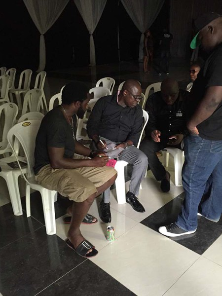 Weird-MC-Omobaba-Gbenga-Adeyinka-arrive-for-Nomoreloss-service-of-songs-2