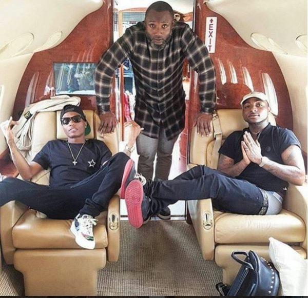 Wizkid, Davido and Kamal Ajiboye