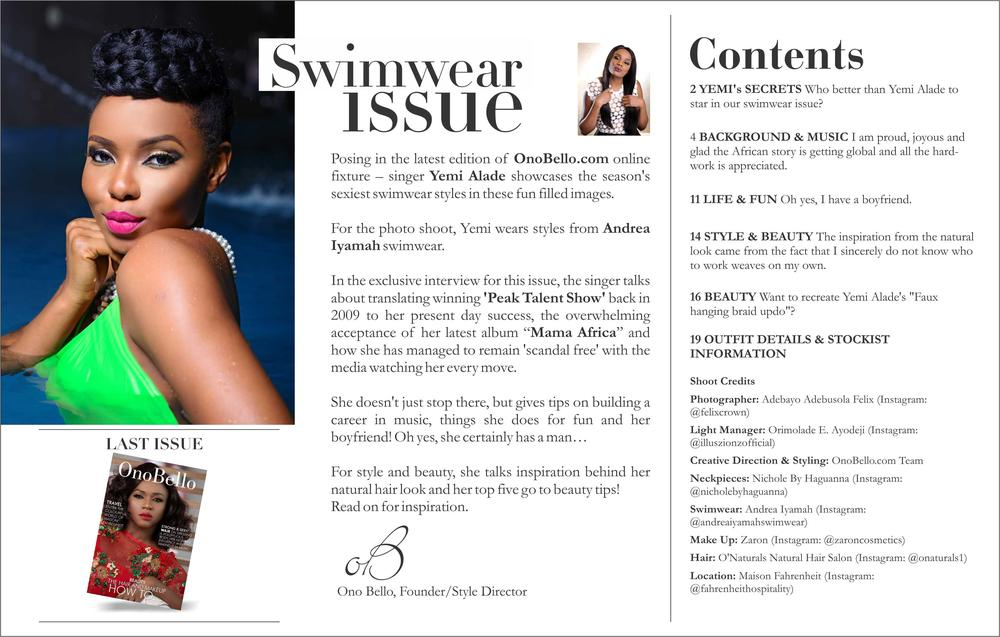 Yemi Alade Swimsuit for Ono Bello2