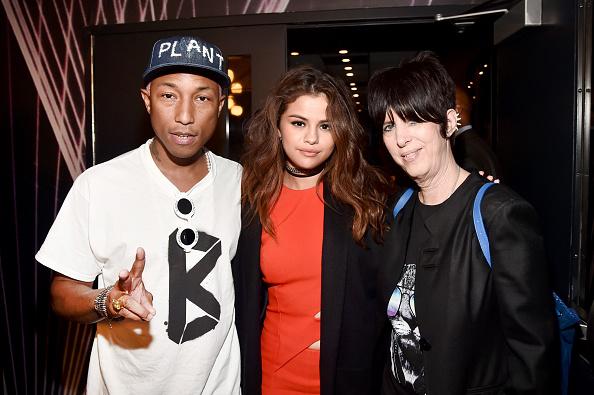 Pharrell Williams, Selena Gomez, and Diane Warren