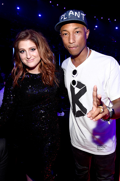Meghan Trainor and Pharell Williams