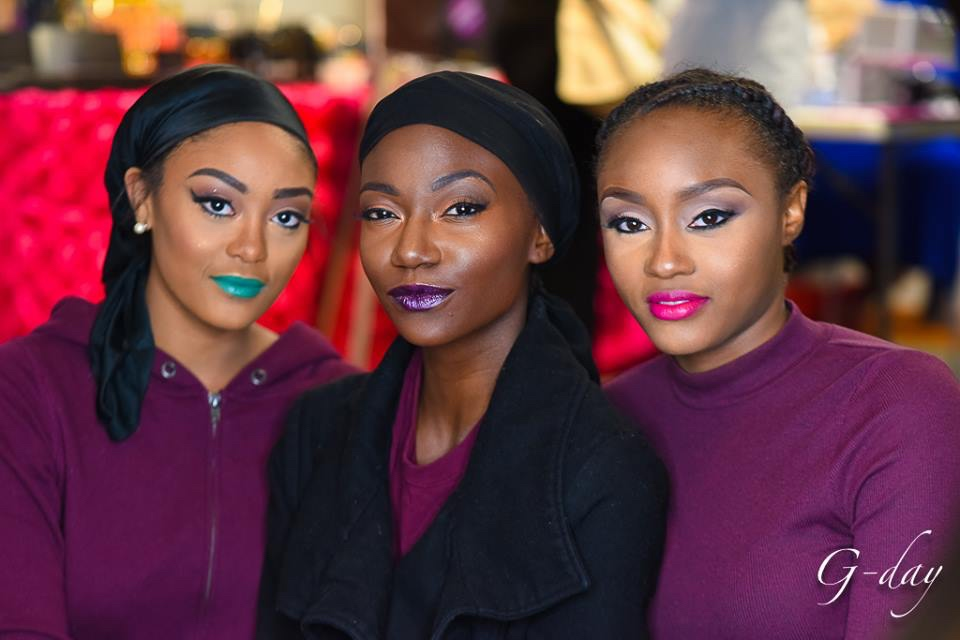 omolewa cosmetics launch bellanaija april2016_Fashion show Models made up in everything Omolewa