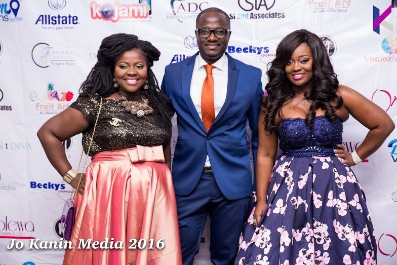 omolewa cosmetics launch bellanaija april2016_Irene Dele Adejumo, Sebastian Adejumo and Ms. Jackie Appiah
