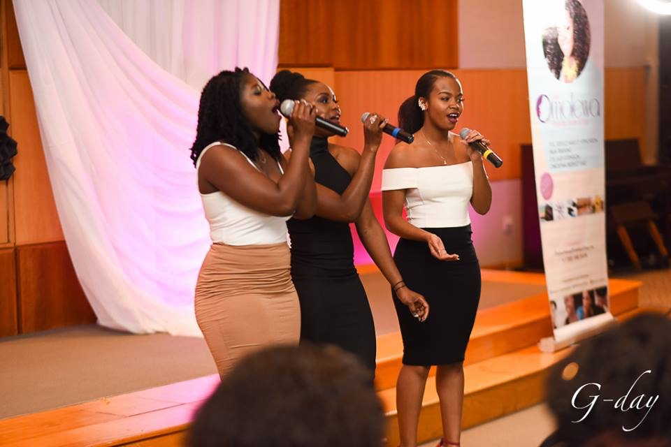 omolewa cosmetics launch bellanaija april2016_La Voix entertain guest with thier lovely voices