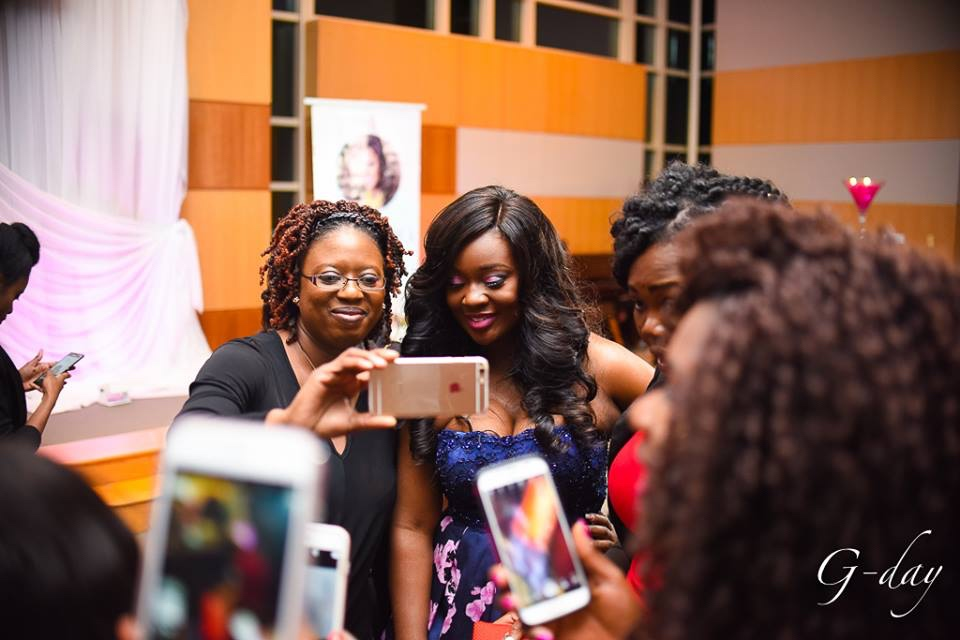 omolewa cosmetics launch bellanaija april2016_Selfies with Jackie