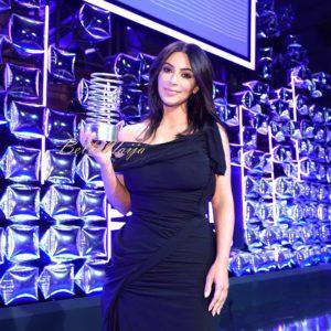 Kim Kardashian Accepting Her Award
