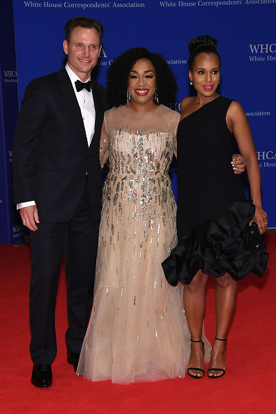 (L-R) Tony Goldwyn, Shonda Rhimes, and Kerry Washington