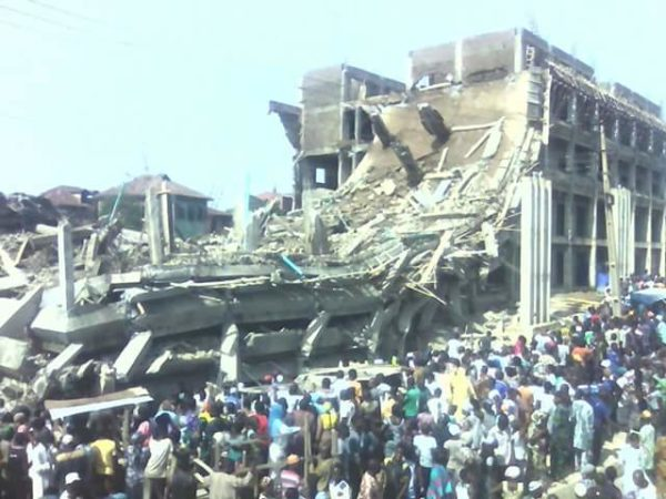 Uncompleted Government Building Collapses In Abeokuta Photos