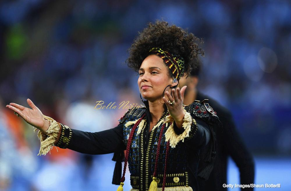 uefa champions league 2016 final how alicia keys lit the place up with her opening performance. Black Bedroom Furniture Sets. Home Design Ideas