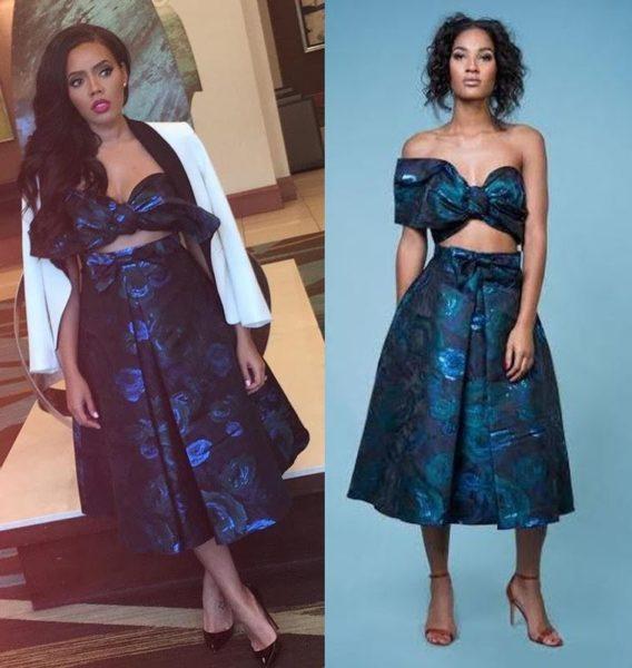 Angela Simmons in Raah Clothing