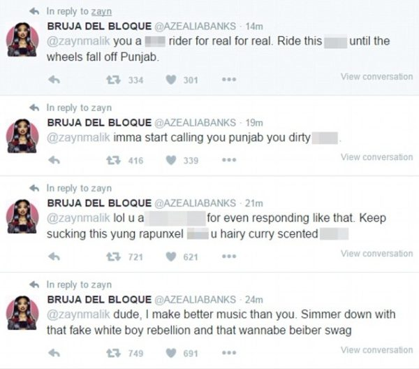 Azealia banks/Zayn tweets