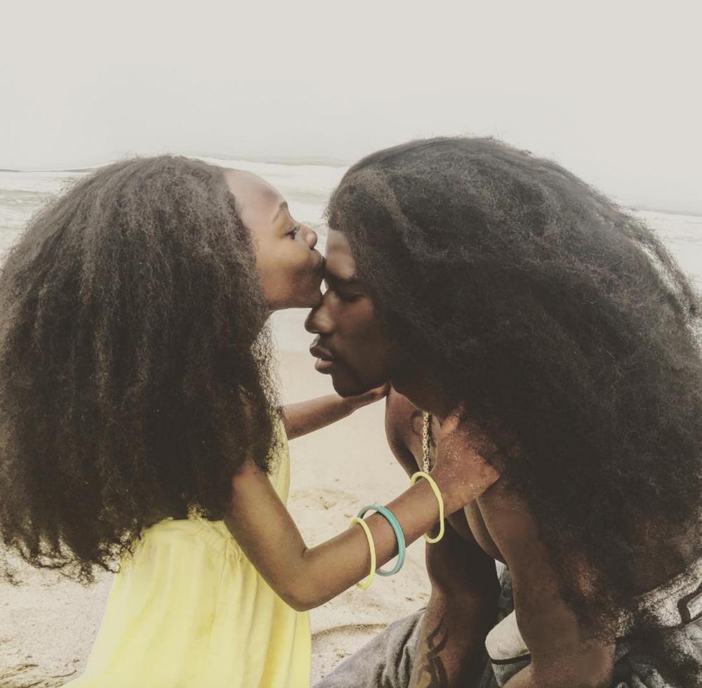 Benny Harlem and Jaxyn_Natural Hair_Afro_1