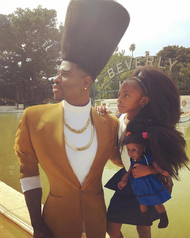Benny Harlem and Jaxyn_Natural Hair_Afro_4