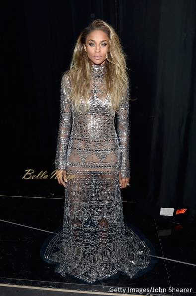 Ciara in a Naeem Khan gown