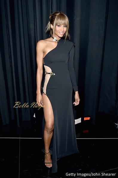 Ciara in a Galia Lahav gown