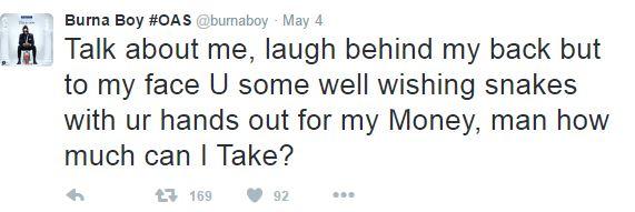 Burna Boy clap back 1