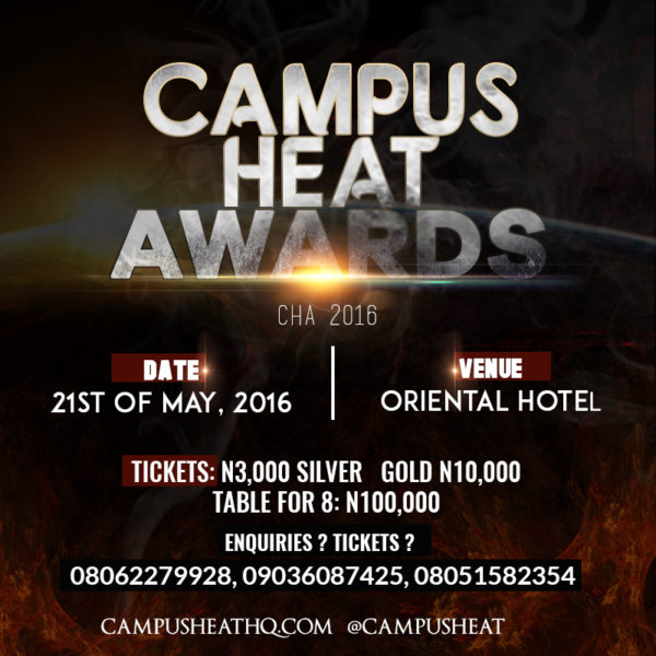 Campus Heat Awards 2016_ May 21, 2016, Oriental Hotel