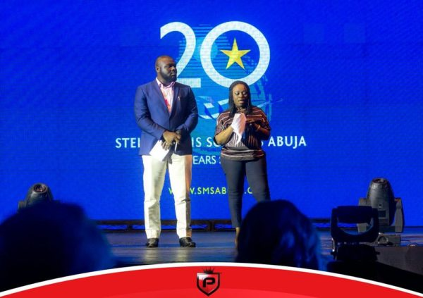 Chairman of Stella Maris Schools, Mrs Afoma Anusionwu with the Managing Director, Mr. Chukwuemeka Anyaene