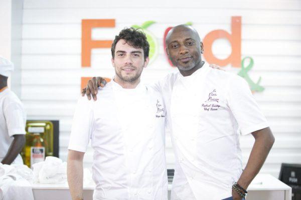 Chefs Raphael Duntoye and FIlipo Bandini