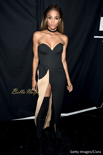 Ciara in a Lexi Clothing gown