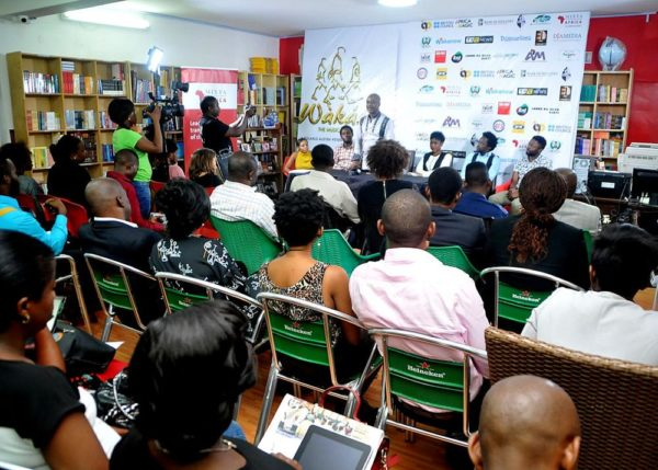 Cross section of guests, reporters and partners at Wakaa the Musical goes to London Press Conference