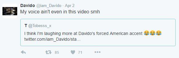 Davido clap back 2