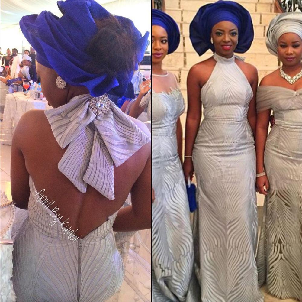 Davido's sister Coco Adeleke and Caleb Adaji Traditional Wedding_1